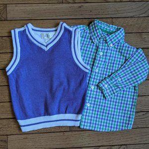 Children's Place Dress Shirt and Matching Vest